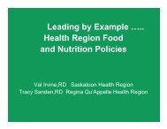 Leading by Example - Regina Qu'Appelle Health Region