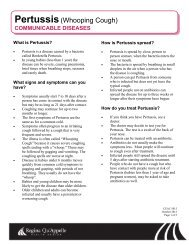 Pertussis(Whooping Cough)
