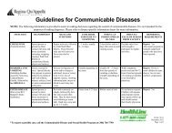 Guidelines for Communicable Diseases