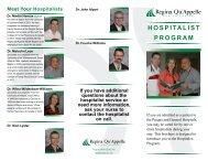Hospitalist program - Regina Qu'Appelle Health Region