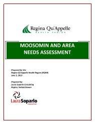 Moosomin and Area Needs Assessment - Regina Qu'Appelle Health ...