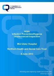 Mid Ulster Hospital, Magherafelt - 06 June 2013 - Regulation and ...