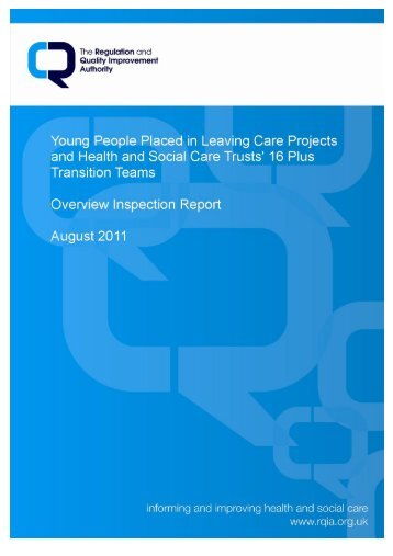 Overview Inspection Report on Young People Placed in Leaving ...