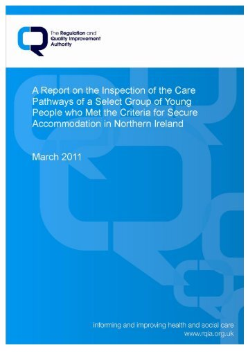 A Report on the Inspection of the Care - Regulation and Quality ...