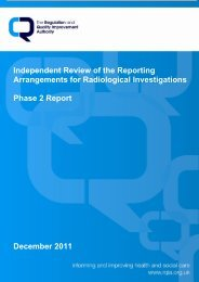 Independent Review of the Reporting Arrangements for ...