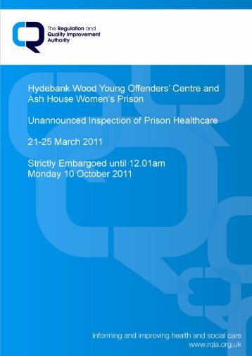Hydebank Wood Young Offenders' Centre and Ash House Women's ...