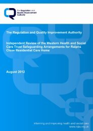 Independent Review of Safeguarding Arrangements for Ralphs ...