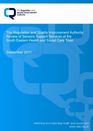 Review of Sensory Support Services in the South Eastern HSC Trust