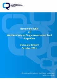 Overview Report, October 2011 - Regulation and Quality ...