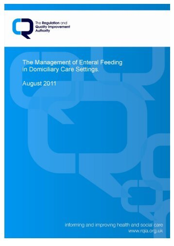 Guidance on the Management of Enteral Feeding in Domiciliary ...