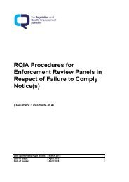 RQIA Procedures for Enforcement Review Panels in Respect of ...
