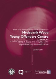 Hydebank Wood Young Offenders Centre - cjini