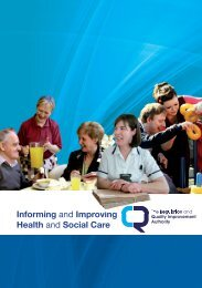 Informing and Improving Health and Social Care - Regulation and ...
