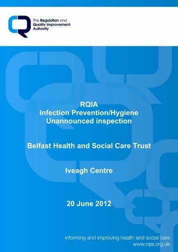 Iveagh Centre, Belfast - Regulation and Quality Improvement Authority