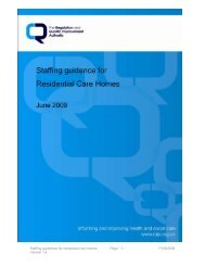 Staffing guidelines for residential care homes - Regulation and ...