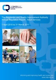 Overview Report Adult Services, 2010-11 - Regulation and Quality ...