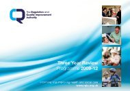 RQIA's three year review programme - Regulation and Quality ...