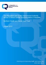 Review of Mixed Gender Accommodation in Hospitals, Northern ...