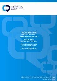 Donard Ward, Longstone Hospital - Regulation and Quality ...