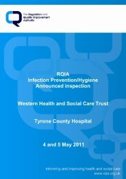 Tyrone County Hospital, Omagh - 4 May 2011 - Regulation and ...