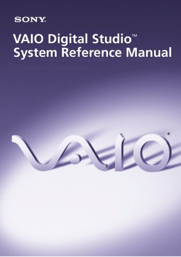 PCV-RXP-RZP System Reference Manual - Sony