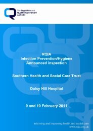 Daisy Hill Hospital, Newry - Regulation and Quality Improvement ...