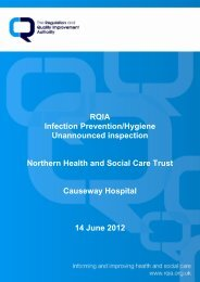 Causeway Hospital - 14 June 2012 - Regulation and Quality ...