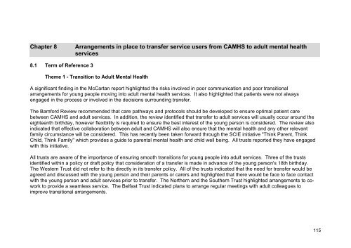 RQIA Independent Review of Child and Adolescent Mental Health ...
