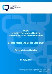 (Re-audit) - 14 July 2011 - Regulation and Quality Improvement ...