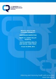 Ward 12, Lagan Valley Hospital - Regulation and Quality ...