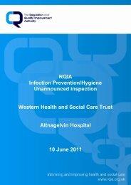 Altnaglevin Hospital, Londonderry - 10 June 2011 - Regulation and ...