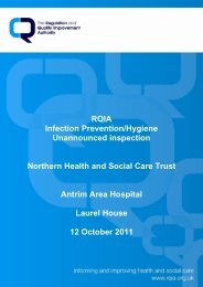 Antrim Area Hospital, Antrim - 12 October 2011 - Regulation and ...