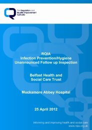 Muckamore Abbey Hospital, Antrim - 25 April 2012 - Regulation and ...