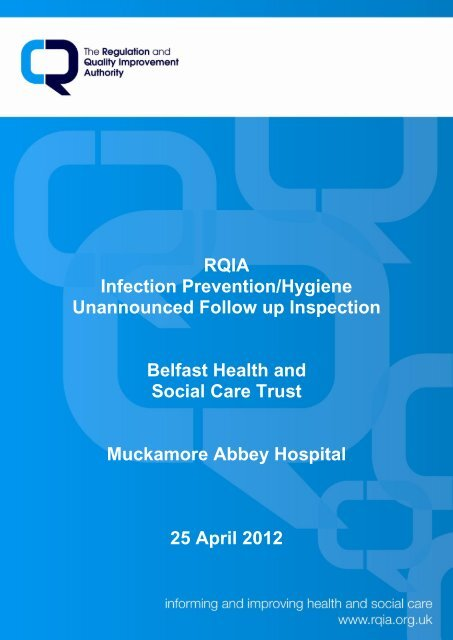 Muckamore Abbey Hospital, Antrim - 25 April 2012 - Regulation and ...