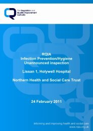 Lissan 1, Holywell Hospital, Antrim - Regulation and Quality ...