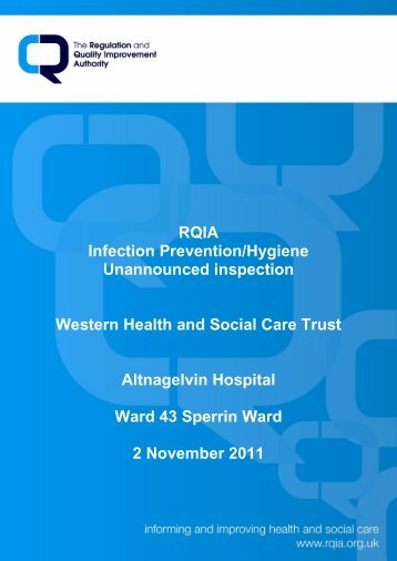 2 November 2011 - Regulation and Quality Improvement Authority