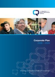 RQIA Corporate Plan 2006-09 - Regulation and Quality ...