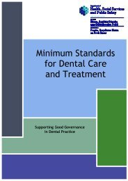 Minimum Standards for Dental Care and Treatment (2011)