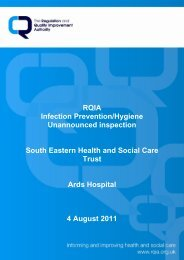 Ards Hospital, Newtownards - 04 August 2011 - Regulation and ...