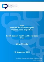 Ulster Hospital - 15 November 2011 - Regulation and Quality ...