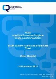 Ulster Hospital - 15 November 2011 - Regulation and Quality ...
