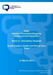 Downshire Hospital, Downpatrick - Regulation and Quality ...