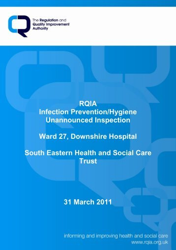 Downshire Hospital, Downpatrick - Regulation and Quality ...