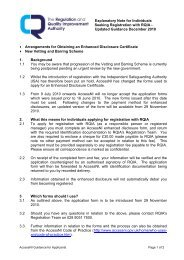 Explanatory Note for Individuals Seeking Registration with RQIA