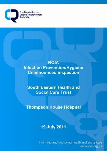 Thompson House Hospital, Lisburn - 19 July 2011 - Regulation and ...