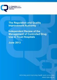 Independent Review of the Management of Controlled Drug Use in ...