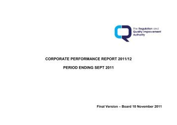 September 2011 - Regulation and Quality Improvement Authority