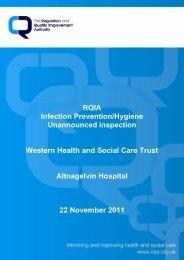 Altnaglevin Hospital, Londonderry - 22 November 2011