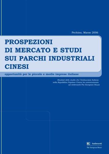 prospezioni di mercato e studi sui parchi industriali cinesi