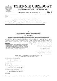 MRiRW Nr 9#1510.indd - Dziennik Urzędowy - Ministerstwo ...